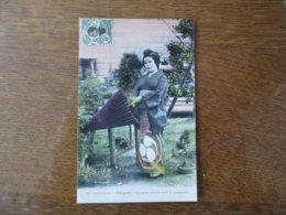 COCHINCHINE-SAÏGON- JAPONAISE PARTANT POUR LA PROMENADE 1912 TIMBRE INDO-CHINE R F 5c - Autres