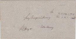 2 Briefe Von Usingen Nach Weilburg - Sin Clasificación