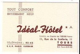 Cdv  Ideal Hotel  Tours 37 - Cartes De Visite