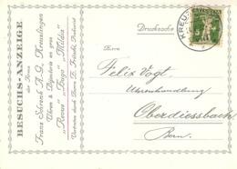 """Motiv Karte  """"Schrenk, Uhren & Bijouterie, Kreuzlingen""""        1932 - Suisse"""
