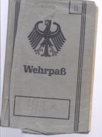 AK-div.27- 104  -  BRD  Wehrpaß - - Documentos Históricos