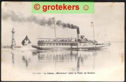 GENEVE Le Bateau <Montreux> Dans La Rade De Genève 1904 De OUCHY > Louvain/ B - GE Ginevra