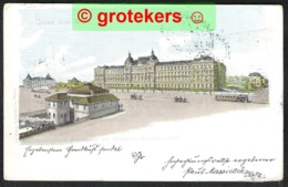 WIEN Stadtbahnstation Breitensee Mit Infanterie-Cadettenschule 1901 - Wenen