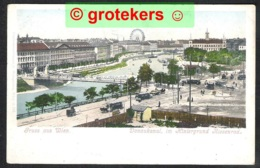 WIEN Donaukanal Im Hintergrund Riesenrad Um 1900 - Autres