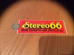 AUTOCOLLANT, Sticker «Stéréo 66 FM 93,5Mhz - Autocollants