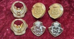 Lotto 3 Coppie Di Insegne Vintage Da Colletto Aeronautica Arabia Saudita Nuovi - Esercito