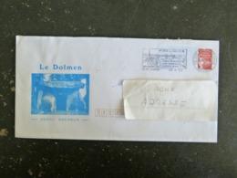 SAINTE FOY LA GRANDE - GIRONDE - FLAMME SUR PAP MARIANNE LUQUET - DOLMEN BAGNEUX MAINE ET LOIRE - Postmark Collection (Covers)