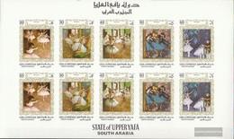 Aden - Upper Yafa 56B-60B Sheetlet (complete Issue) Unmounted Mint / Never Hinged 1967 Paintings - Ballet Scenes - Yemen