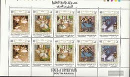 Aden - Upper Yafa 56A-60A Sheetlet (complete Issue) Unmounted Mint / Never Hinged 1967 Paintings - Ballet Scenes - Yemen