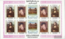 Aden - Upper Yafa 23B-27B Sheetlet (complete Issue) Unmounted Mint / Never Hinged 1967 Paintings Out The Louvre - Yemen