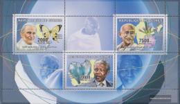 Guinea 4263-4265 Sheetlet (complete Issue) Unmounted Mint / Never Hinged 2006 Friedenspolitiker - Guinea (1958-...)