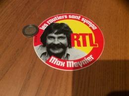AUTOCOLLANT, Sticker «les Routiers Sont Sympa - RTL - Max Meynier» (radio) - Autocollants