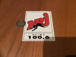 AUTOCOLLANT, Sticker «NRJ 100.6 - REIMS (51)» (radio) - Autocollants