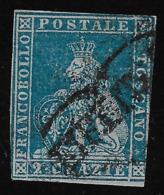 TOSCANA - A.S.I. - 1851: MARZOCCO CORONATO - Valore Usato Da 2 Cr. - In Buone Condizioni. - Toscane