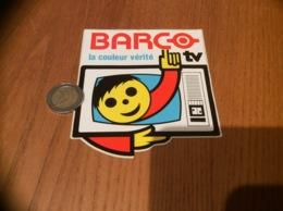 AUTOCOLLANT, Sticker «BARCO - La Couleur Vérité - TV» (télévision) - Autocollants