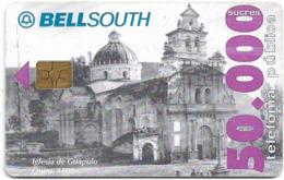 Ecuador - Bell South - Iglesia De Guapulo 1908, 50.000Sucre, Used - Ecuador