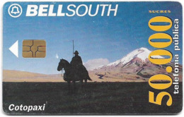 Ecuador - Bell South - Cotopaxi Volcano, Gem5 Red, 50.000Sucre, Used - Ecuador