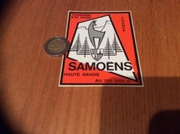 Ancien AUTOCOLLANT, Sticker «TOURISME ETE HIVER - SAMOËNS (74)» (blason) - Autocollants