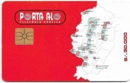 Ecuador - Porta - Map (Red), 30.000Sucre, Used Rare! - Ecuador