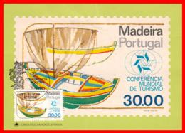 PORTUGAL MADEIRA  CONFERENCIA  POSTCARD~ FDC CONFERENCIA MUNDIAL DE TURISMO, MADEIRA - Enteros Postales
