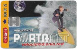 Ecuador - Porta - Portanet, Chip SC7, 30.000Sucre, Used - Ecuador