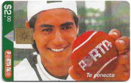 Ecuador - Porta - Nicolás Lapentti, Gem Not Symmetric White/Gold, 2$, Used - Ecuador