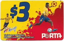 Ecuador - Porta - Jugador, Prepaid 3$, Used - Ecuador