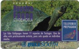 Ecuador - Bell South - Nuestra Fauna, Turtle, Prepaid 100.000Sucre, Used - Ecuador
