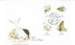 Portugal   1988 Açores FDC + 4  Maxim Card AVES TOTAL 5 DOCUMENTS. - Blocs-feuillets