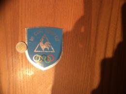 Ancien AUTOCOLLANT, Sticker «le Coq Sportif» (anneaux Olympiques) - Autocollants