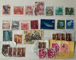 1937 - 1966  GIAPPONE JAPAN 17 Francobolli Usati - 1926-89 Emperor Hirohito (Showa Era)