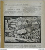 1898 INDUSTRIE DU MARBRE - FABRICATION DES BILLETS DE BANQUE - BRONZE DANS LES ATS PLASTIQUES - MOUVEMENT PHOTOGRAPHIQUE - Livres, BD, Revues