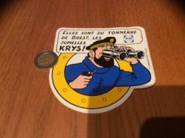 AUTOCOLLANT, Sticker «ELLES SONT DU TONNERRE DE BREST, LES JUMELLES KRYS» (Capitaine Haddock - Tintin - HERGÉ) - Autocollants