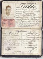 CARTE D'IDENTITE N°3527-RF- 1939 TOULON VAR - Mappe