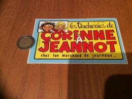 AUTOCOLLANT, Sticker «Les Vacheries De CORINNE À JEANNOT» (BD TABARY) - Autocollants