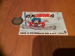 AUTOCOLLANT, Sticker «REIMS QUINZAINE 81 - Patronage Des AGF» (Iznogoud - BD TABARY) - Autocollants