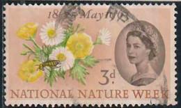 GB 1963 Yv. N°373A - Semaine De La Nature - 3p Boutons D'or Et Pâquerettes - 3 Bandes De Phosphore - Oblitéré - Oblitérés