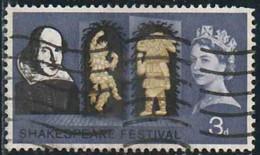 GB 1964 Yv. N°382A - William Shakespeare - 3p Puck Et Bottom - 3 Bandes De Phosphore -  Oblitéré - Oblitérés