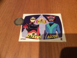 AUTOCOLLANT, Sticker «GOLDORAK - ACTARUS - ALCOR» (Artois - Antenne 2) - Autocollants
