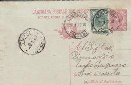 Sansevero. 1920. Annullo Frazionario (26 - 49), Su Cartolina Postale Con Testo - 1900-44 Victor Emmanuel III
