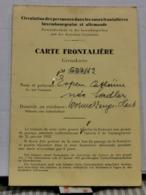 Carte Frontalière, Wormeldange Avec Cache Et Timbre Taxe - Lettres & Documents