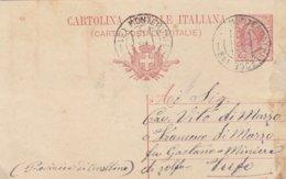 Monteroni Di Lecce. 1918. Annullo Frazionario (31 - 81), Su Cartolina Postale Con Testo - 1900-44 Victor Emmanuel III