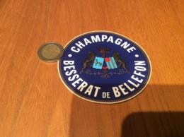 AUTOCOLLANT, Sticker «CHAMPAGNE BESSERAT DE BELLEFON» (blason) - Autocollants