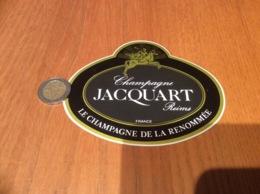 AUTOCOLLANT, Sticker «CHAMPAGNE JACQUART - Reims (51)» - Autocollants