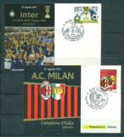 Italy, Italia  FC Inter & Milan, 2010-2011, 2 Cards - Famous Clubs