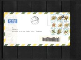 Brazil 1996 Interesting Airmail Registered Letter - Brazilië