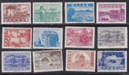 Greece, Scott #437-454, Mint Hinged, Scenes Of Greece, Issued 1942 - Neufs