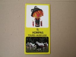 KOMPAS JUGOSLAVIJA / TOURS - AUSFLUGE ( Brochure Prospect ) - Dépliants Turistici