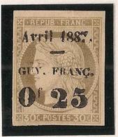 Guyane - 1887 - N°Yv. 5 - 0,25 Sur30c Brun - Neuf (*) / MNG - Guyane Française (1886-1949)
