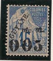 Guyane - 1892 - N°Yv. 29 - 0f05 Sur 15c Bleu - Neuf * / MH VF - Nuevos